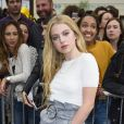 "Anais Gallagher arrive au Topshop Show Space pour assister au défilé ""Topshop Unique"" (collection prêt-à-porter printemps-été 2017). Londres, le 18 septembre 2016."