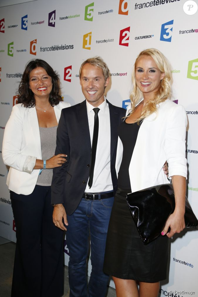 carinne teyssandier damien th venot elodie gossuin lors de la conf rence de presse de rentr e. Black Bedroom Furniture Sets. Home Design Ideas