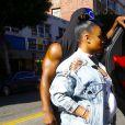 Blac Chyna enceinte avec son fils King Stevenson dans les rues de Los Angeles, le 24 septembre 2016