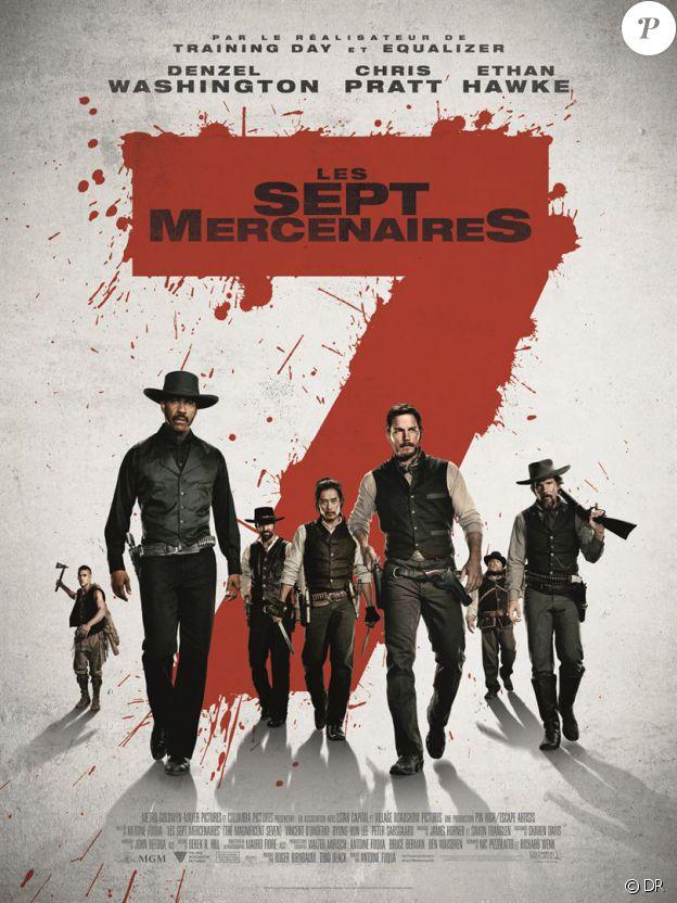 Affiche du film Les Sept Mercenaires en salles le 28 septembre 2016