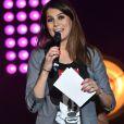 """Karine Ferri - Les 12 finalistes de 'The Voice' saison 4 chantent pour l'association """"Tout Le Monde Chante Contre Le Cancer"""" pour les enfants malades à Disneyland Paris le 29 mars 2015."""