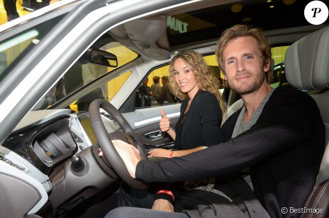 Elodie Fontan Et Sa Compagne Philippe Lacheau Pr Sentation Du Renault Trezor Concept Car