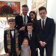 Victoria et David Beckham aux côtés de leurs enfants
