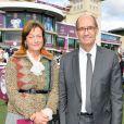 Eric Woerth et sa femme Florence au 95ème Qatar Prix de l'Arc de Triomphe à l'Hippodrome de Chantilly le 2 octobre 2016.