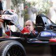 """""""Le prince Albert II de Monaco lors de la présentation de la nouvelle monoplace de Formule E de Venturi au palais princier à Monaco le 26 septembre 2016. © Jean-Charles Vinaj / Pool Monaco / Bestimage"""""""