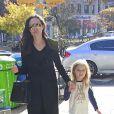 Brad Pitt et sa femme Angelina Jolie passent chez Barnes et Noble avec leurs enfants Vivienne et Knox à New York le 3 novembre 2015. © CPA/Bestimage