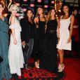 """Fauve Hautot, Aria Crescendo, Ariane Brodier, Flora Coquerel (Miss France 2014), Audrey Chauveau à l'avant-première du show """"Chantal Thomass"""" au Crazy Horse à Paris, le 5 octobre 2016."""