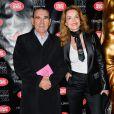 """Cyrielle Clair et son mari Michel Corbière à l'avant-première du show """"Chantal Thomass"""" au Crazy Horse à Paris, le 5 octobre 2016."""