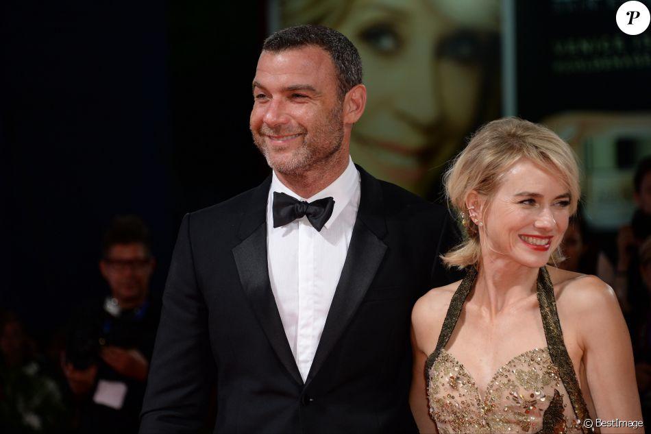 Liev Schreiber et sa compagne Naomi Watts lors de la première du film ''The Bleeder'' lors du 73ème Festival du Film de Venise, la Mostra, le 2 septembre 2016.