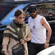 Jennifer Aniston et son mari Justin Theroux quittent l'appartement de Justin à Soho et se rendent à l'hôtel. New York, le 14 juin 2016.