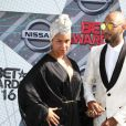 Alicia Keys et son mari Swizz Beatz à la soirée BET Awards 2016 à The Microsoft Theatre à Los Angeles, le 26 juin 2016.