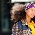 Alicia Keys porte un manteau imprimé léopard à New York le 11 juillet 2016.