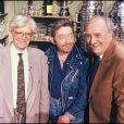 Pierre Tchernia avec Henry Chapier et Serge Gainsbourg en 1990 au Bar de l'entracte