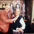 Pierre Tchernia et Bernard Haller au Bar de l'entracte en 1990