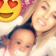 Samantha, l'ex-compagne d'Anthony Martial et leur fille Peyton. Juillet 2016.