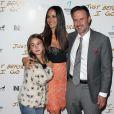 David Arquette avec sa femme Christina McLarty et sa fille Coco Arquette à la première de Just Before I Go à Hollywood, le 20 avril 2015