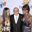 Alicia Keys, Clive Davis et Whitney Houston à la soirée pre-Grammy organisée le 9 février 2008 à Los Angeles.