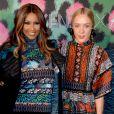 Iman et Chloë Sevigny assistent à la soirée de lancement de la collection Kenzo x H&M à New York le 19 octobre 2016.
