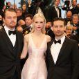 """Leonardo DiCaprio, Carey Mulligan et Tobey Maguire lors de la Montee des marches du film """"Gatsby le Magnifique"""" pour l'ouverture du 66 eme Festival du film de Cannes le 15 mai 2013"""