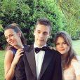 Pauline Ducruet, Louis Ducruet et Camille Gottlieb, les trois enfants de la princesse Stéphanie de Monaco, lors d'un mariage en Toscane en août 2016, photo Instagram.