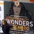 Lynda Carter, interprète originale de Wonder Woman, lors d'une réunion à l'ONU, New York, le 21 octobre 2016.