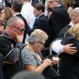 La famille de Jose Fernandez à ses obsèques, le 29 septembre 2016 à Miami, suite à sa mort à 24 ans dans un accident de bateau quatre jours plus tôt.