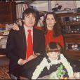 Serge Lama, sa femme Michèle et leur fils Frédéric