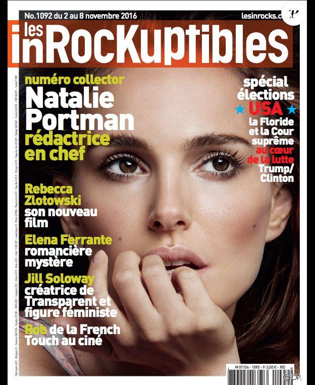 Natalie Portman, rédactrice en chef des Inrockuptibles du 2 novembre 2016, dont elle fait la couverture.