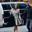 Exclusif - Natalie Portman (enceinte) à New York le 16 octobre 2016.