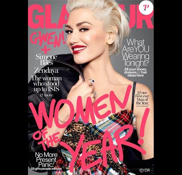 Gwen Stefani en couverture du magazine Glamour au mois de novembre 2016