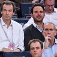 Benjamin Badinter et Christophe Michalak au BNP Paribas Tennis Masters Paris 2016. Paris, le 4 novembre 2016.