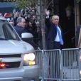Le candidat du parti Républicain Donald Trump et sa femme Melania Trump à New York, le 8 novembre 2016.