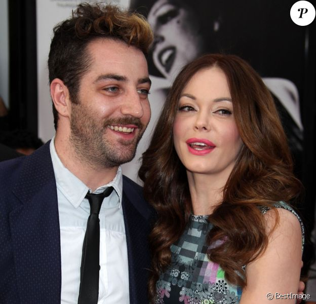Rose McGowan, Davey Detail aux 'TMC Classic Film Festival' à Hollywood, le 12 avril 2012