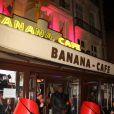 """Devanture du club Banana café - Soirée de lancement du livre """"SurVivant, Mes 30ans avec le sida"""" de Jean-Luc Romero-Michel au club Banana café à Paris. © Baldini/Bestimage"""