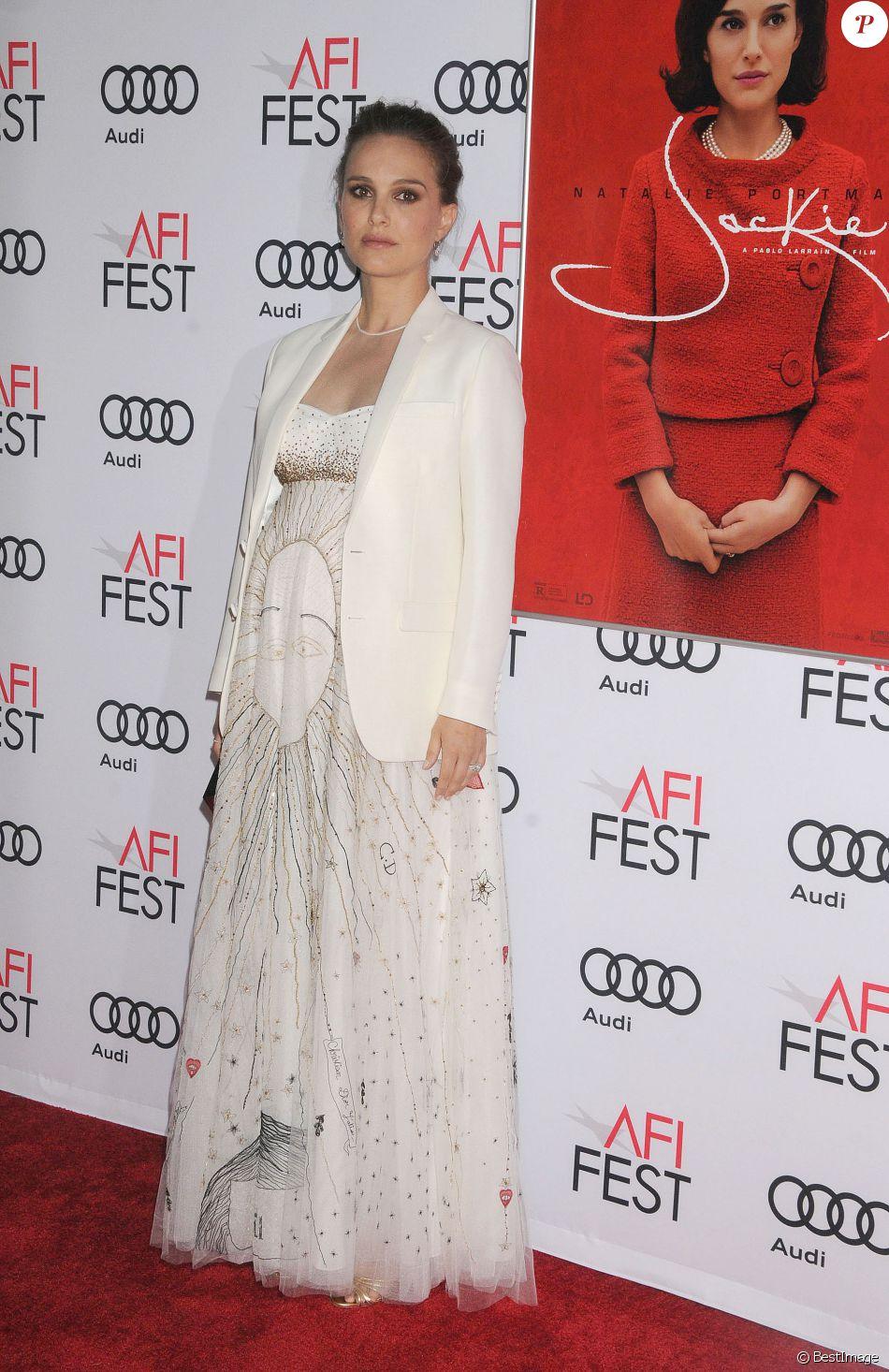 Natalie Portman enceinte à la première de 'Jackie' à Hollywood, le 14 novembre 2016