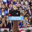 Lady Gaga au Dernier meeting de Hillary Clinton, candidate démocrate aux élections présidentielles américaines, à Raleigh. Le 8 novembre 2016 © Randy Brawdy / Zuma Press / Bestimage