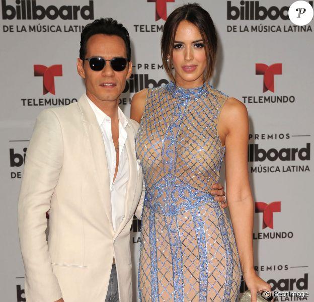 Marc Anthony et sa femme Shannon De Lima à la conférence de presse Billboard Latin Music Awards à Miami, le 28 avril 2016.