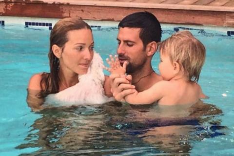 Novak Djokovic : Avec Jelena et leur petit Stefan, enfin les vacances...