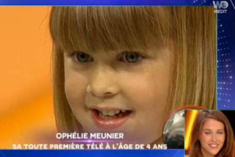 """Ophélie Meunier : Émue de revoir sa participation à """"L'école des fans"""" à 4 ans"""