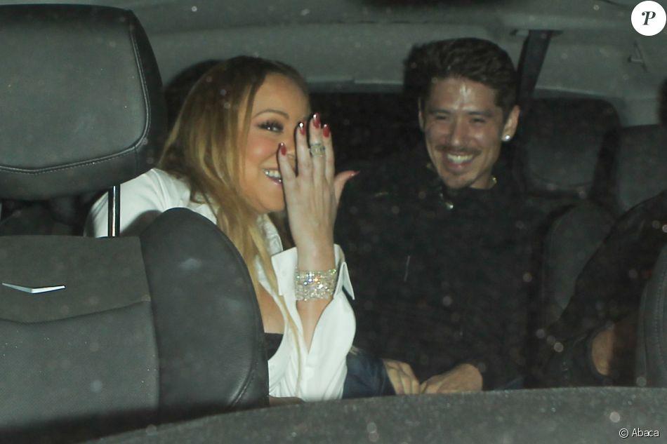Mariah Carey  et son danseur Bryan Tanaka à la sortie du club Catch à Los Angeles le 5 novembre 2016