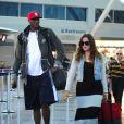 Khloé Kardashian et son mari Lamar Odom à l'aéroport de New York, le 19 juin 2012