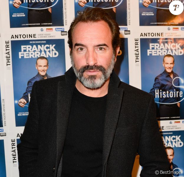 """Exclusif - Jean Dujardin - Générale du spectacle """"Histoires"""" de Franck Ferrand au théâtre Antoine à Paris le 5 décembre 2016. © Coadic Guirec/Bestimage"""