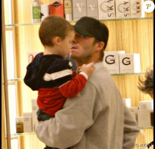 David Beckham et son fils Romeo
