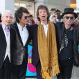"Charlie Watts, Ronnie Wood, Mick Jagger, Keith Richards - Arrivée des people au vernissage de l'exposition ""Exhibitionism"" consacrée aux Rolling Stones à la Saatchi Gallery de Londres, le 4 avril 2016."