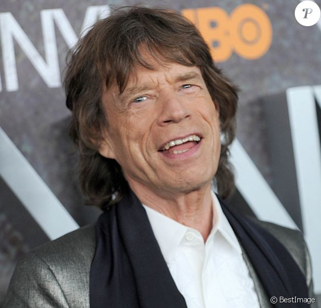 Mick Jagger - Première de la série 'Vinyl' au Théâtre Ziegfeld à New York le 15 janvier 2016.
