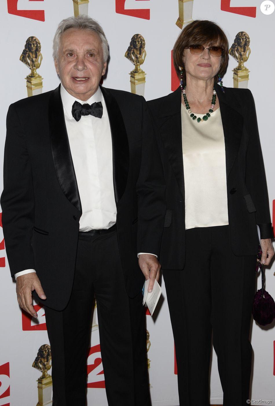 michel sardou et sa femme anne marie perier la 26e nuit des molieres aux folies bergere a paris le 2 juin 2014