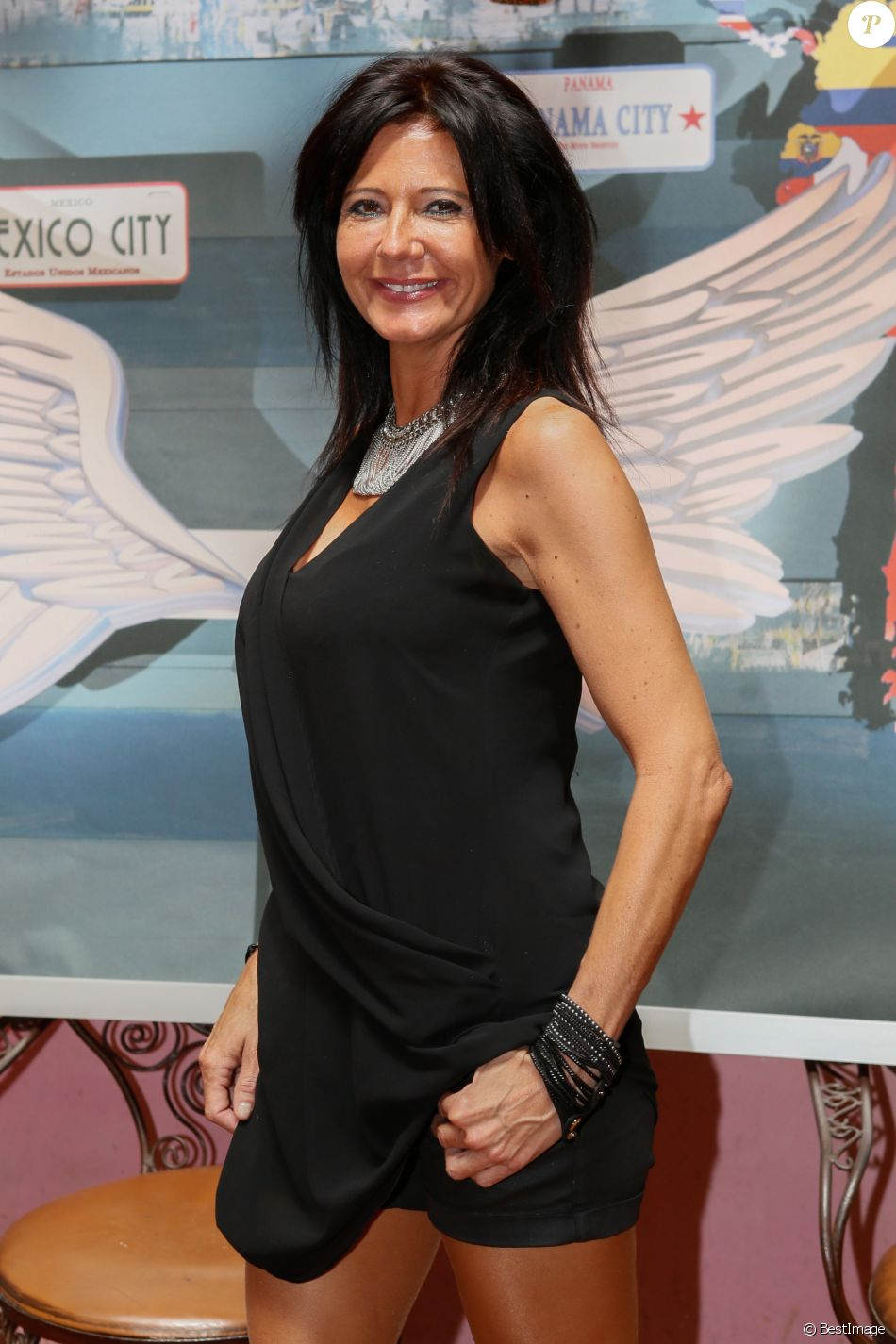 "Nathalie - Photocall des ""Anges 7"" au Barrio Latino à Paris, le 26 mai 2015."
