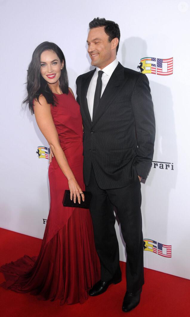 Megan Fox et son mari Brian Austin Green - Soirée pour célébrer les 60 ans de la marque Ferrari aux Etats-Unis, à Beverly Hills, le 11 octobre 2014.