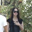 Megan Fox et son mari Brian Austin Green à la sortie du restaurant Geoffrey à Malibu, Californie, Etats-Unis, le 5 juillet 2016.