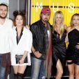 Braison Cyrus, Tish Cyrus, Noah Cyrus, Billy Ray Cyrus et Brandi Glenn Cyrus - Soirée des MTV Video Music Awards à Los Angeles le 30 aout 2015.